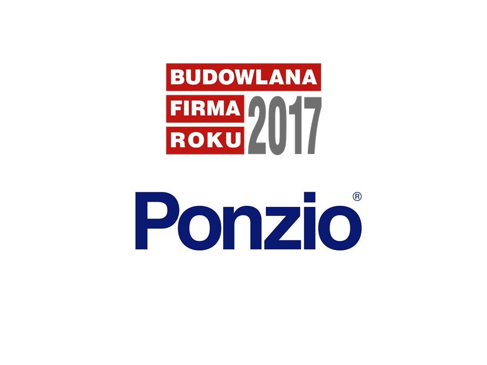 PONZIO – BUDOWLANA FIRMA ROKU 2017