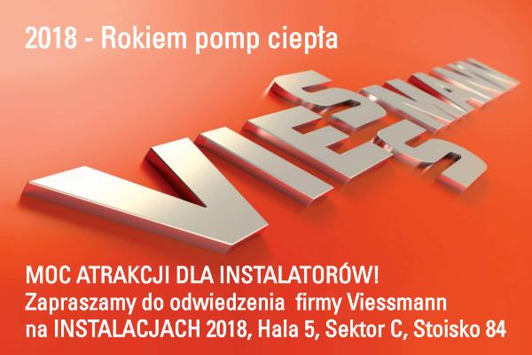 INSTALACJE 2018 – VIESSMANN ZAPRASZA NA STOISKO I KONFERENCJE SPIUG I PORT PC