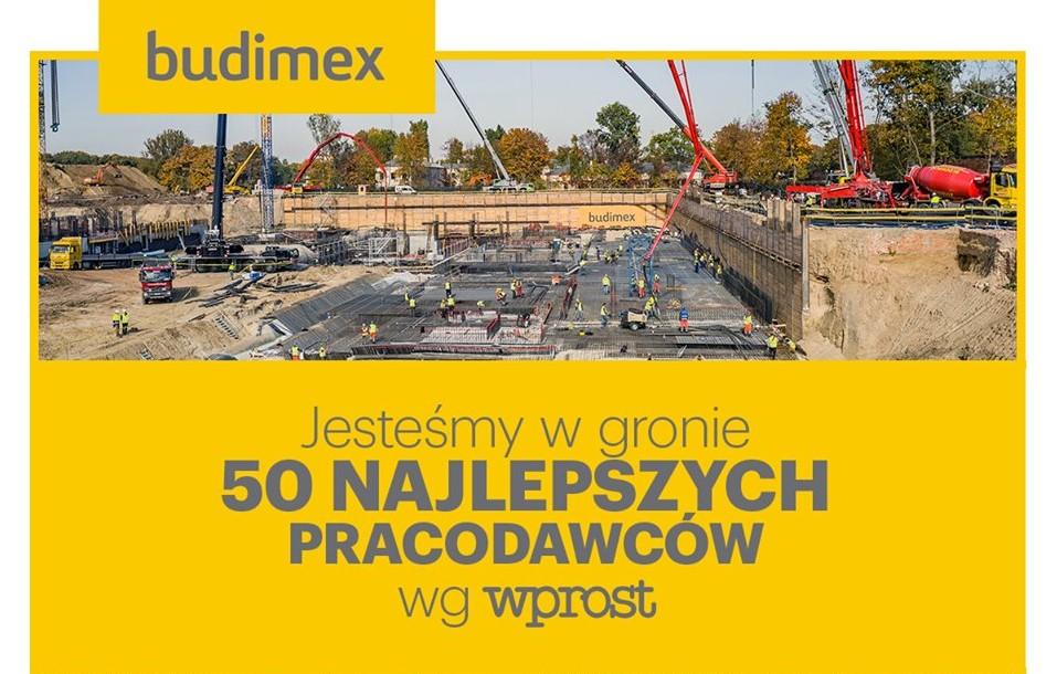 BUDIMEX W GRUPIE 50 NAJLEPSZYCH PRACODAWCÓW