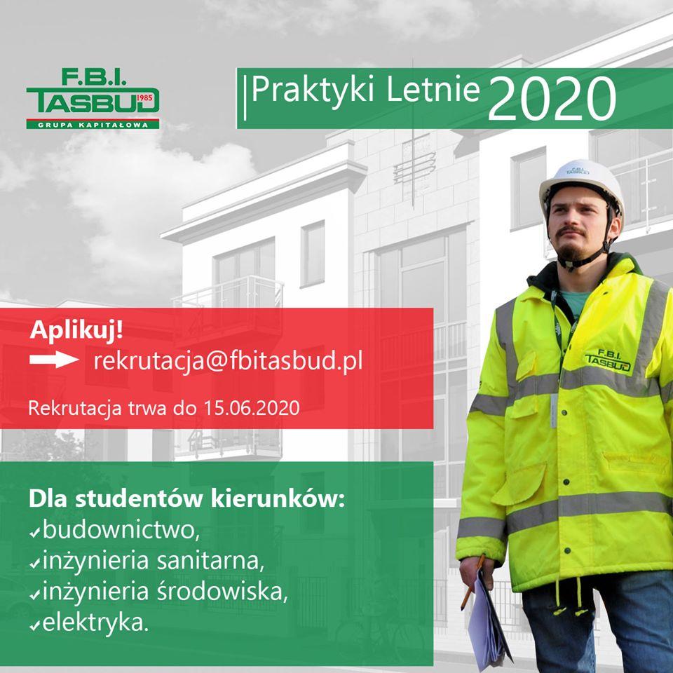 PRAKTYKI LETNIE 2020 – REKRUTACJA F.B.I. TASBUD