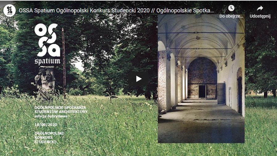 OSSA Ogólnopolskie Spotkania Studentów Architektury