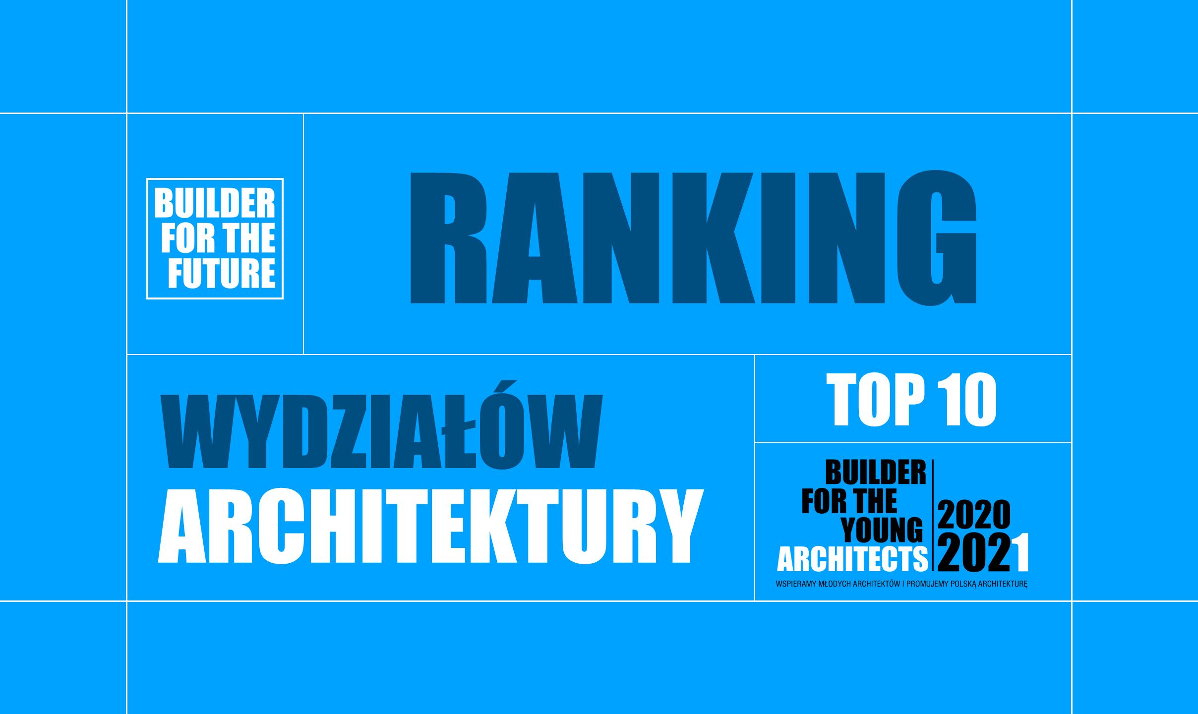 RANKING TOP 10 WYDZIAŁÓW ARCHITEKTURY – EDYCJA 2020-2021