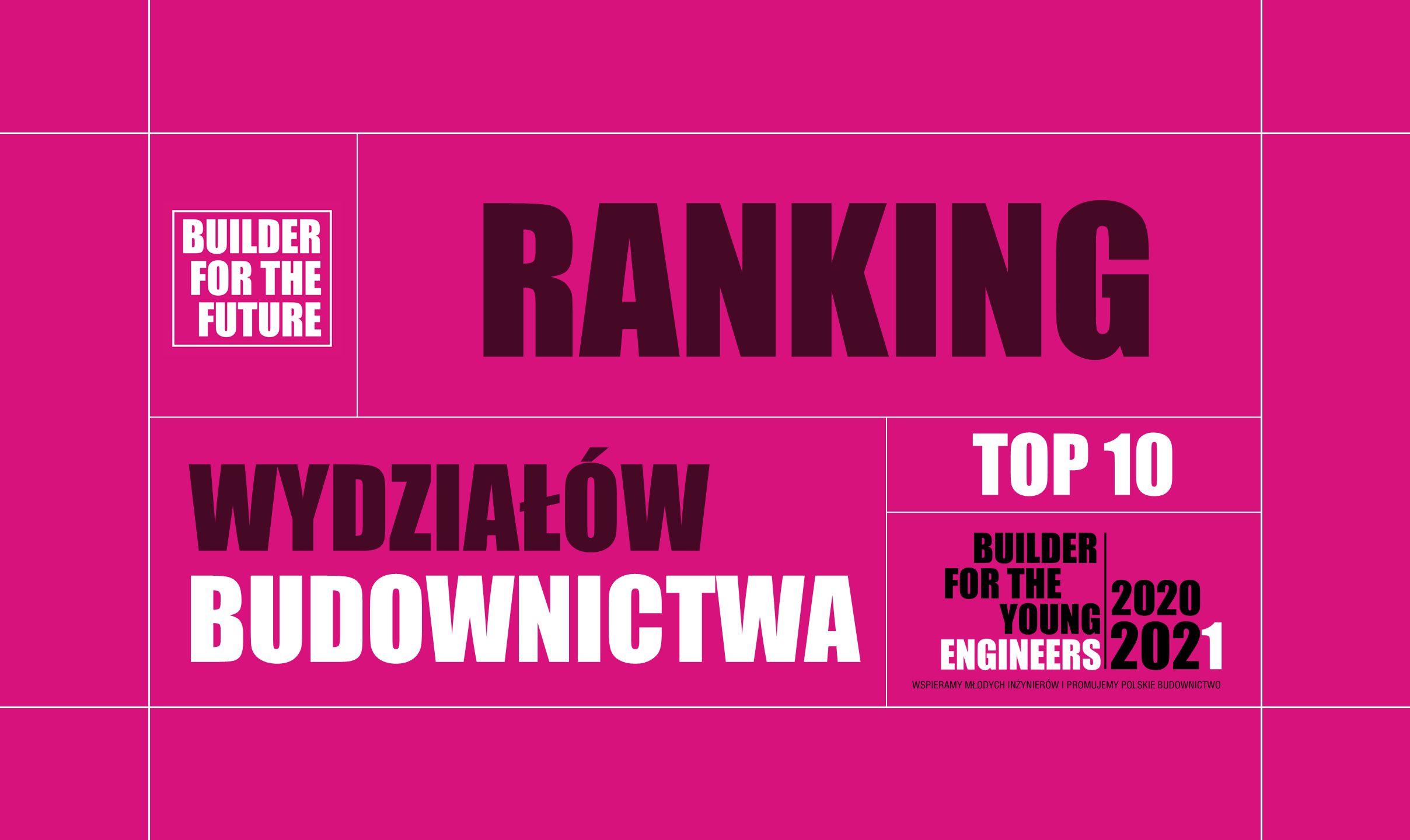 RANKING TOP 10 WYDZIAŁÓW BUDOWNICTWA – EDYCJA 2020-2021