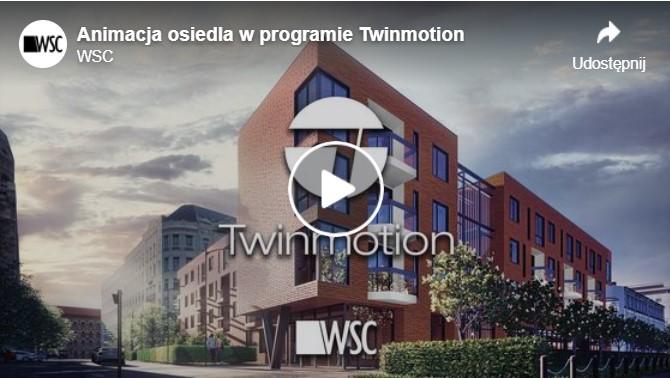 Animacja osiedla w programie Twinmotion