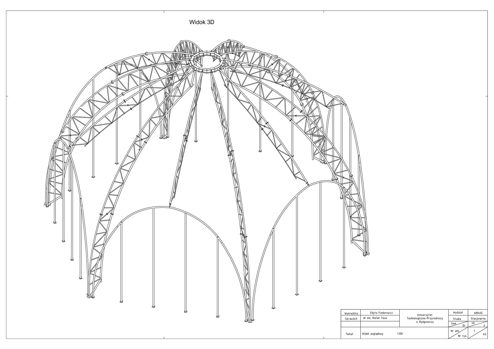 Projekt konstrukcyjny budynku palmiarni