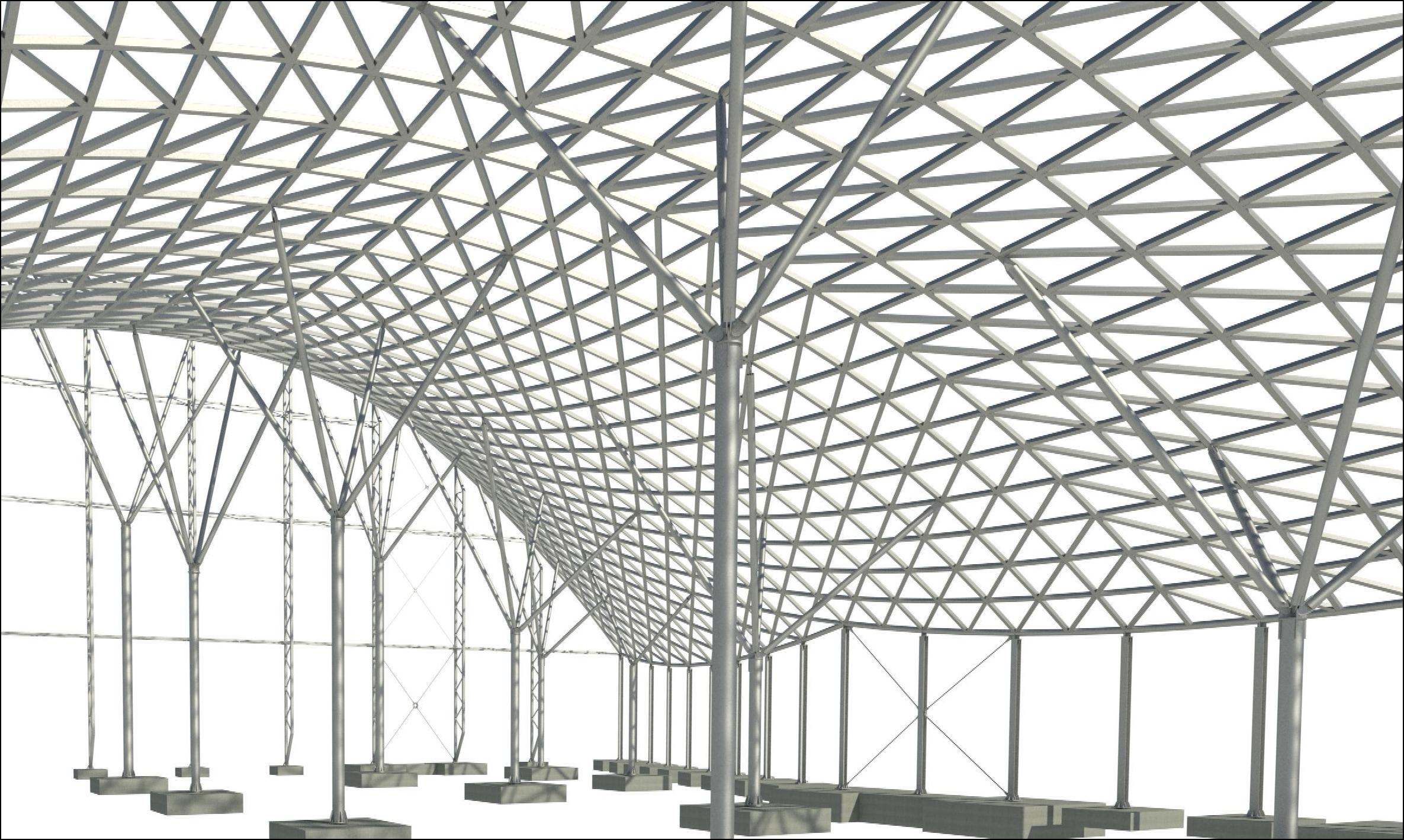 Projekt konstrukcji budynku terminalu lotniczego