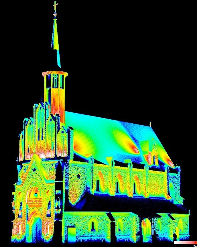 Wykorzystanie technologii skaningu laserowego przy projektowaniu oświetlenia iluminacyjnego budynków