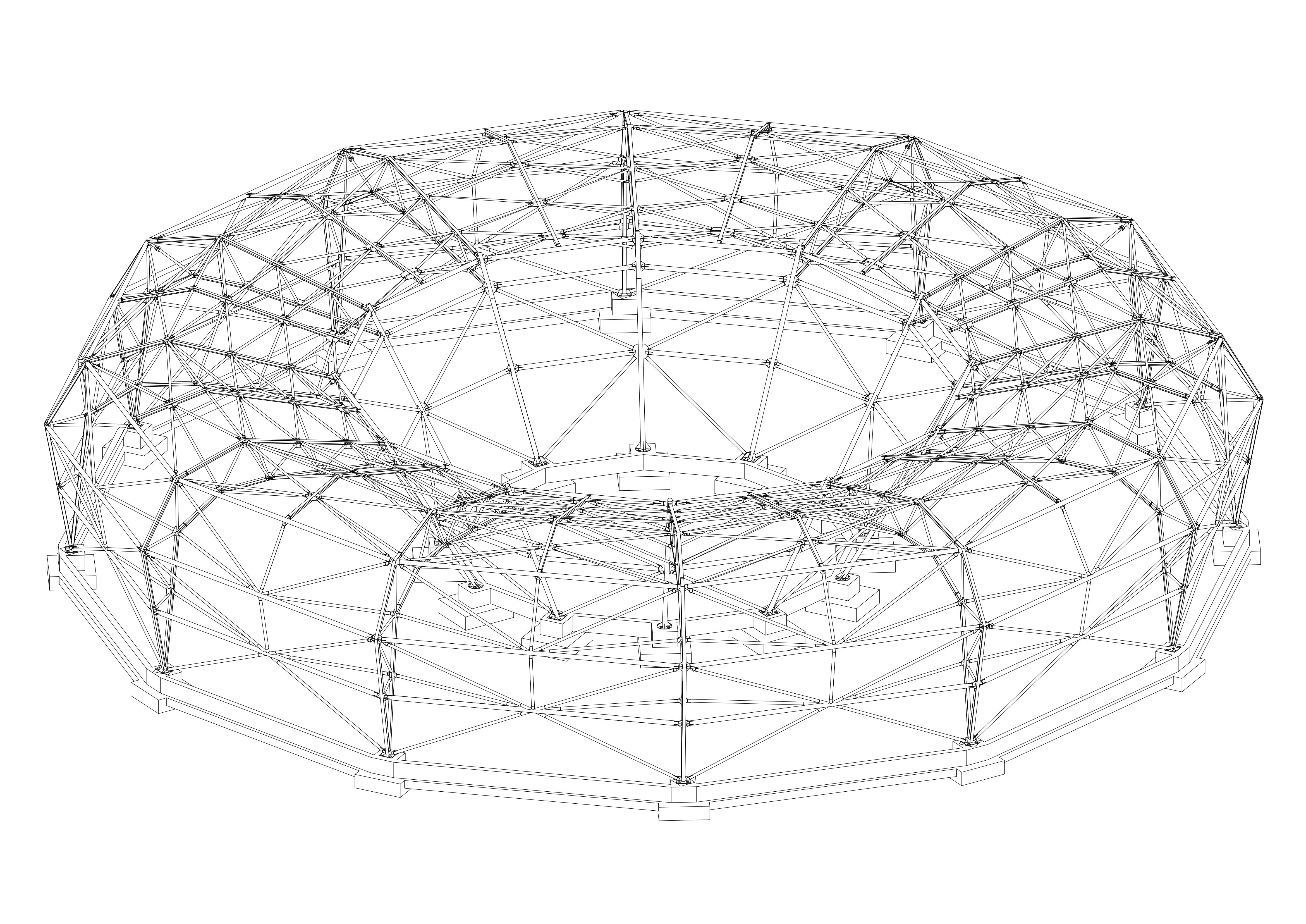 Projekt konstrukcji stalowej Muzeum Sztuki Nowoczesnej