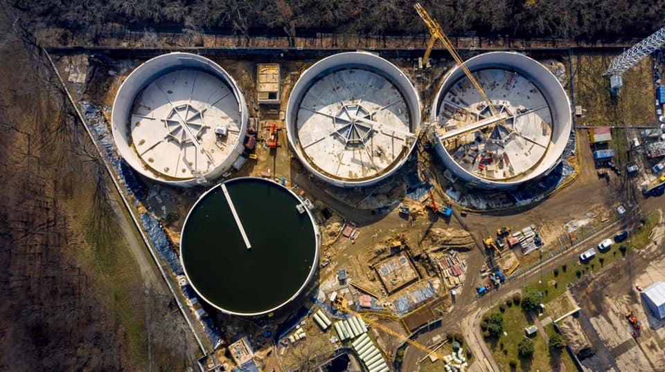 Największy w Europie system zbiorników retencyjnych wykonanych z betonu sprężonego